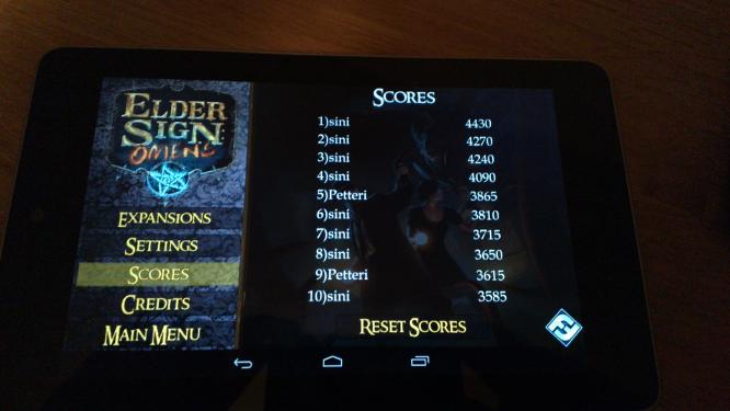 Elder Sign: Omens Nexus 7:lla