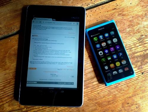 Nexus 7 ja Nokia N9
